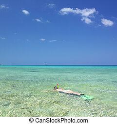 snorkeling, Maria la Gorda, Pinar del Rio Province, Cuba