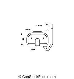 Snorkling line icon