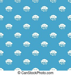 Snow and rain pattern vector seamless blue