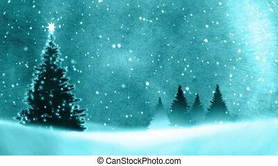 snow., arbre, noël