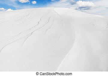 Snow Arctic desert, winter landscape