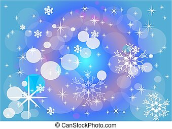 snow., arrière-plan., abstraction., hiver, vector.