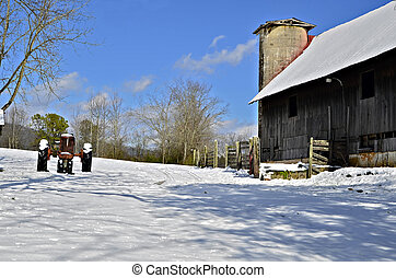 Snow at the Farm