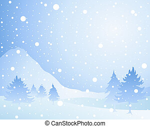 snow background - an illustration of a cold winter seasonal ...