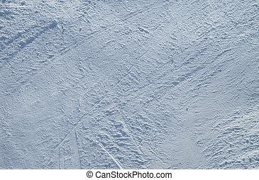 Snow background on ski piste