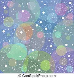 Snow blue background