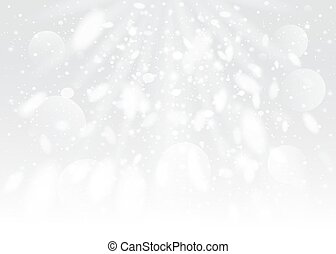 Snow bokeh background. Vector EPS10.