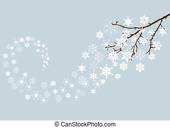 snow branch - vector snow branch