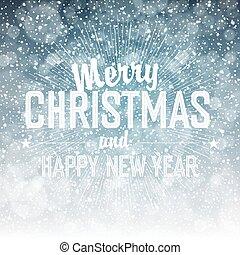 snow., caer, feliz navidad, plano de fondo