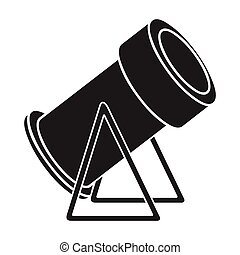 Snow cannon icon in black style isolated on white...