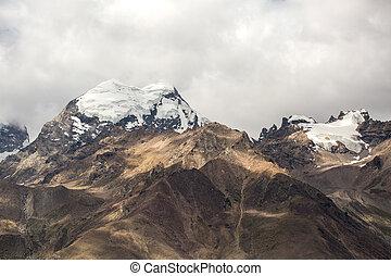 snow cap on mountain in Zanskar, Jammu and Kashmir state, India.