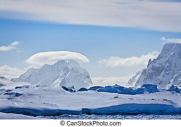 Snow-capped mountains in Antarctica - Beautiful snow-capped ...