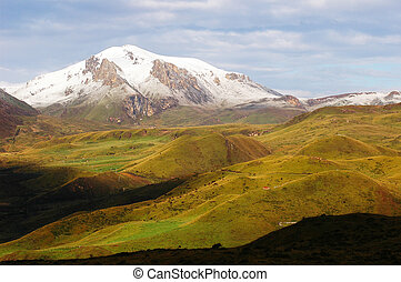 Snow-capped mountains - Landscape of snow-capped mountains ...