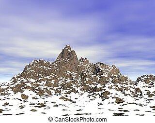Snow capped peaks (CGI)