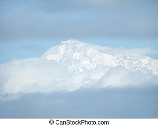 Snow Capped - Snow capped Mt. McKinley in the clouds.