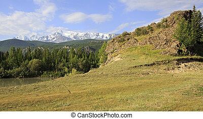 Snow caps of North Chuya ridge.