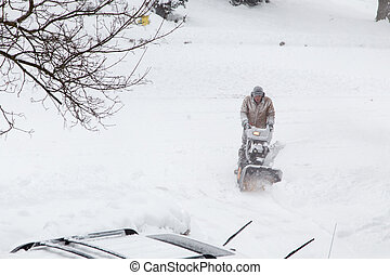 Snow clearing in drive