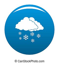 Snow cloud holiday icon blue