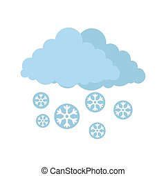 Snow cloud holiday icon, flat style