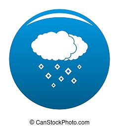 Snow cloud icon blue