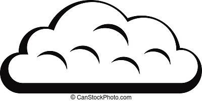 Snow cloud icon, simple style