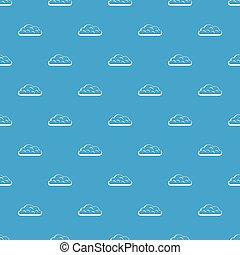 Snow cloud pattern seamless blue