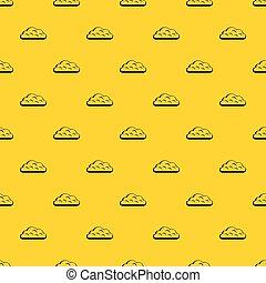 Snow cloud pattern vector