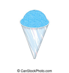 snow cone - a paper cup filled with flavored shaved ice