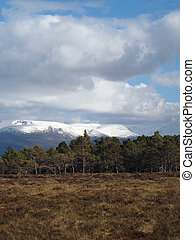 Snow covered Cairngorms summits,Scotland in may - Cairngorms...
