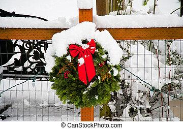 Christmas - Snow covered Christmas decoration
