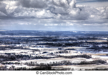 Snow Covered Farmland