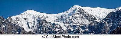 Snow Covered Himalaya Mountains Panorama
