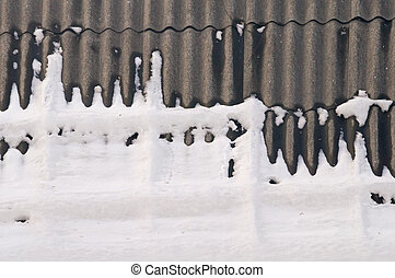 Snow-covered roof