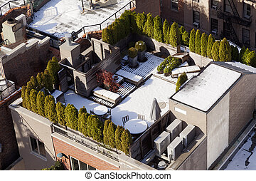 Snow Covered Rooftop