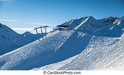 snow covered ski slope