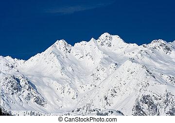 Snow Covered Winter Mountains, Austria