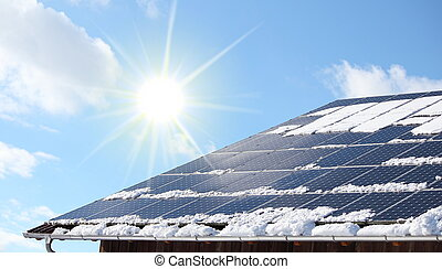 Snow coverred photovoltaic system - A Snow coverred...