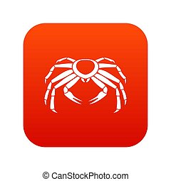 Snow crab icon digital red