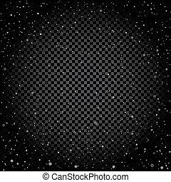 Snow dark transparent background