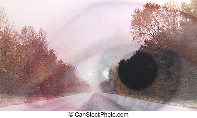 Snow Driving Time Lapse Eye