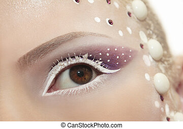 Snow eye makeup.