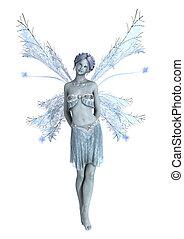 Snow Fairy on White