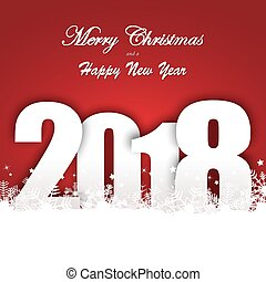 snow fall background for christmas and New Year 2018