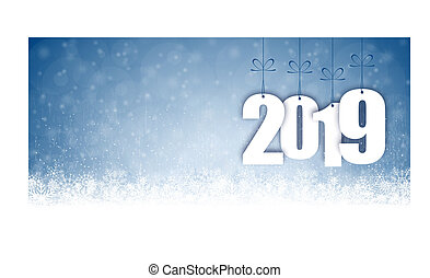 snow fall background for christmas and New Year 2019 -...