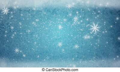 snow fall ice background blue