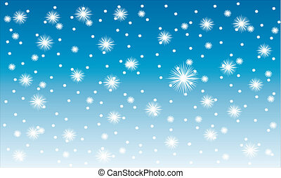 Winter background: snow fall - vector illustration.