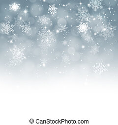 Snow Fall - Winter snow background with xmas balls for...
