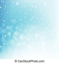 Snow fall with bokeh abstract blue background vector illustration eps10 003