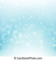 Snow fall with bokeh abstract blue background vector illustration eps10 004
