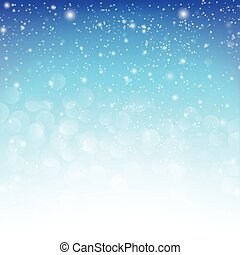 Snow fall with bokeh abstract blue background vector illustration eps10 005